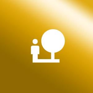 Icon Familienschutz gold