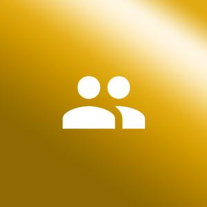 Icon Personenschutz gold